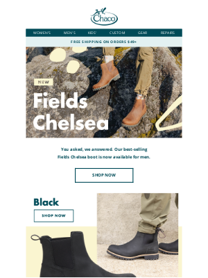 Chaco - All-new men's Chelsea boot