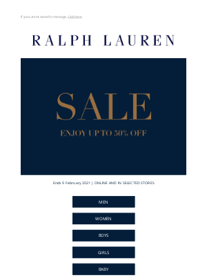Ralph Lauren (UK) - Don't Miss Out: Our Sale is On