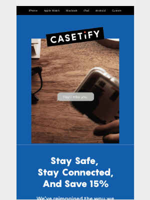 Casetify - Stay safe, stay connected, and save 15%