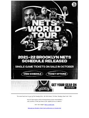 Brooklyn Nets - 2021-22 Nets Schedule Released