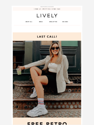 Lively - LAST CALL: Claim Your Free Sock Swag!