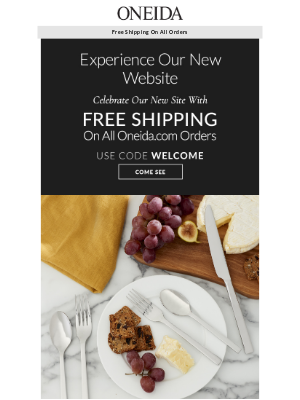 Oneida - We Have a New Look! (Plus FREE Shipping)