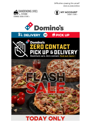 Domino's Pizza Enterprises (AU) - Domino's Is Cooking 🍕 Get 40% Off Large Pizzas*