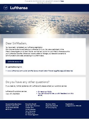 Activate your Lufthansa iD