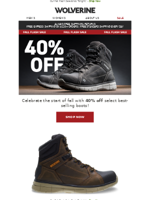 TODAY ONLY: 40% Off These Boots!