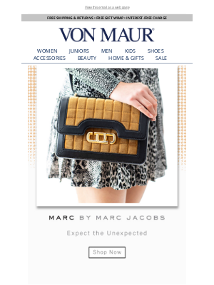 Von Maur - We ♥ Marc Jacobs!