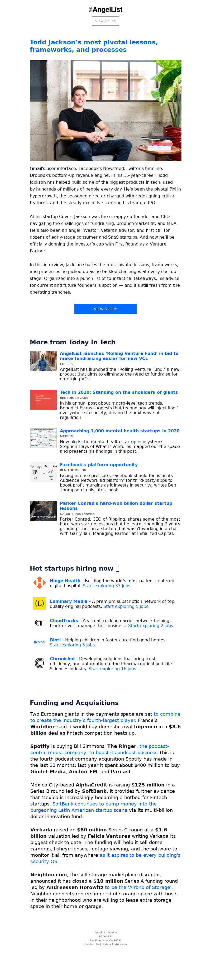 AngelList View Online Todd Jackson's most pivotal lessons, frameworks, and