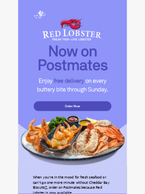 Free Delivery | Red Lobster