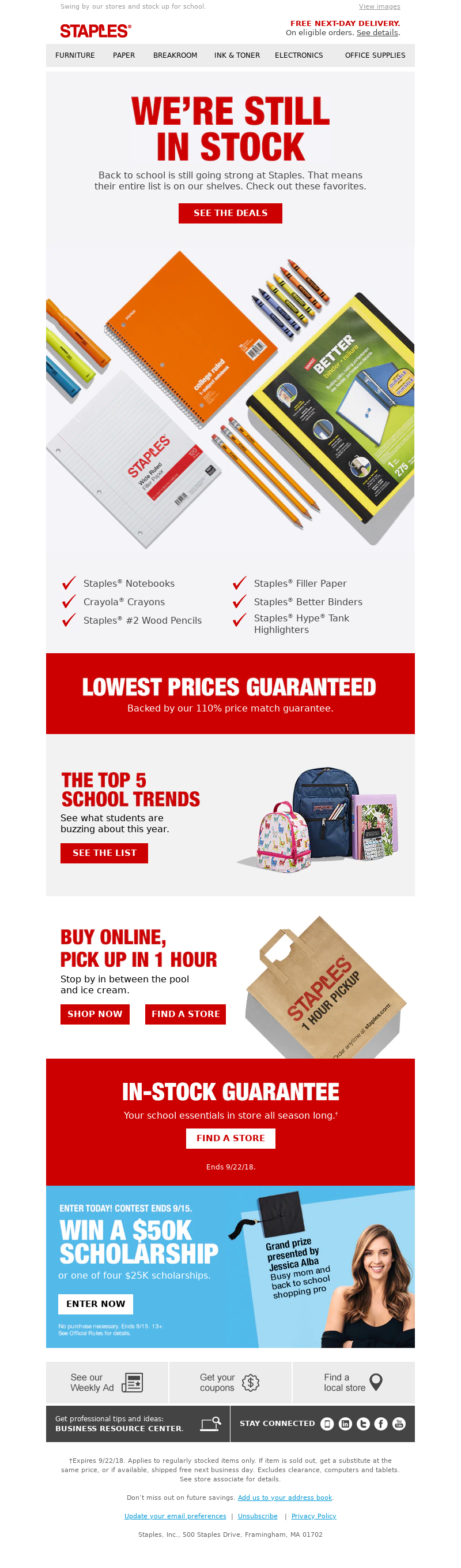 Staples - The school supplies you need. In stock guaranteed.