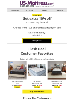 US-Mattress - ⚡FLASH SALE ALERT⚡Today only!