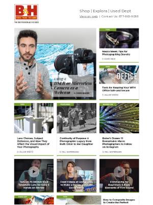 B&H Explora: Using a DSLR or Mirrorless Camera as a Webcam + News, Reviews & Tips
