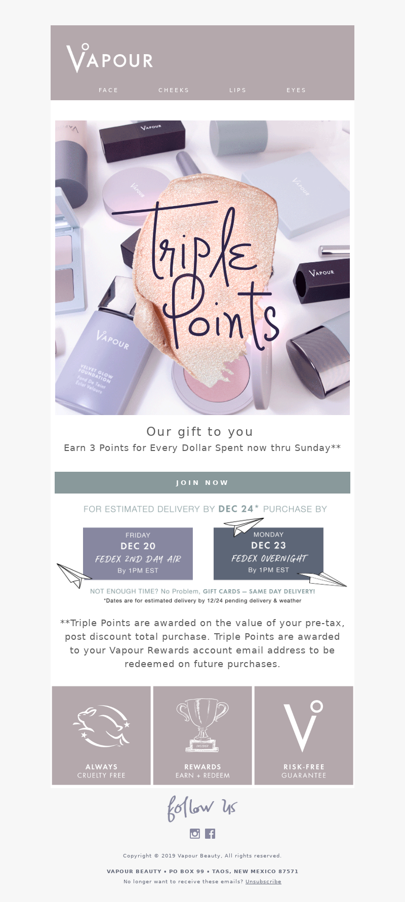 Vapour Beauty - Join our Loyalty Program