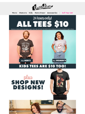 One day only: $10 tees!