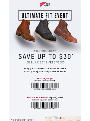Red Wing Heritage - Starting Today – Save up to $30 on Heritage Boots!