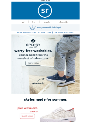 Stride Rite - NEW! Sperry Washables