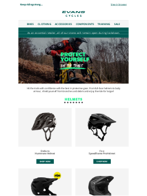 Evans Cycles (UK) - Protect yourself on the trails