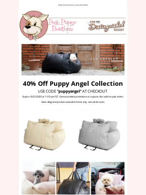 Posh Puppy Boutique - New cozy goodies and 40% off!