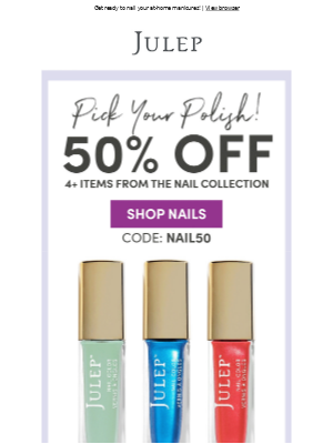 Nail Sale 💅 Half Off 4 Polishes!