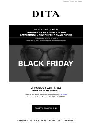 DITA Eyewear - Black Friday Access