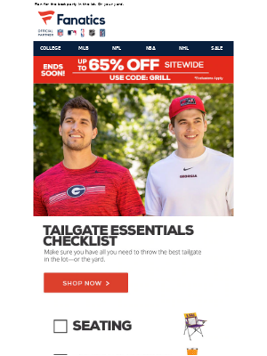 Your College Tailgating Checklist