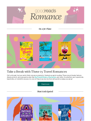 Goodreads - July Books for Romance Lovers