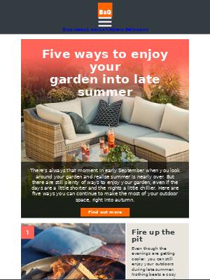 DIY at B&Q (UK) - 5 ways to enjoy your garden into late summer