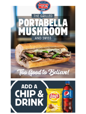 Jersey Mikes - Introducing The Grilled Portabella Mushroom & Swiss