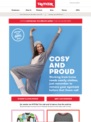 TK Maxx (UK) - WFH? We've got the outfit for that