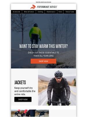 Performance Bicycle - Want To Stay Warm This Winter?