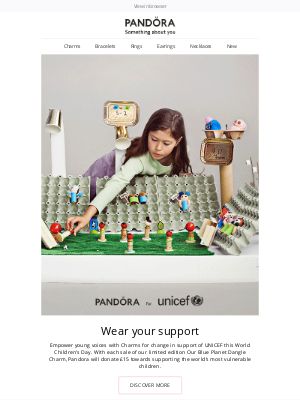 Pandora Jewelry (UK) - Discover charms for change this World Children's Day