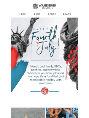 Wishing you a happy 4th of July!
