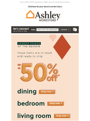 Ashley Furniture HomeStore - Celebrate Your Home 🏠 Lowest Prices of the Season Sale