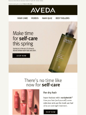 Aveda - Spring is in the air! Revive winter hair and skin today