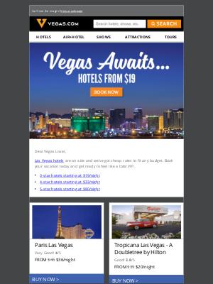 Vegas Hotels as low as $19/night
