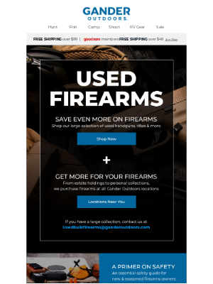 Gander Mountain - Save even MORE on Used Firearms!