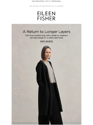 EILEEN FISHER - A Return to Longer Layers