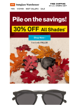 Unbe-LEAF-able savings on all shades! 🍂