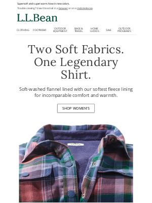 L.L.Bean - The Cozy Fleece-Lined Flannel Shirt