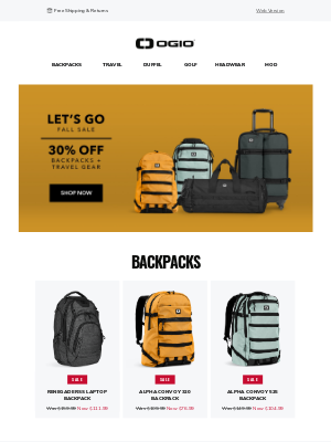 Ogio - On Sale Now: 30% Off Backpacks + Travel Gear