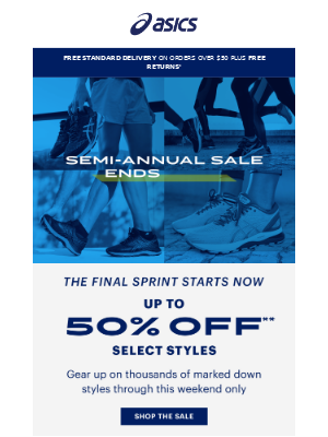 🏃 The Sprint is On: Up to 50% off thousands of styles