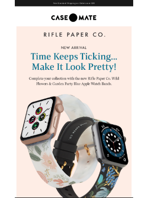 Case-Mate - Introducing Rifle Paper Co. Watch Bands!