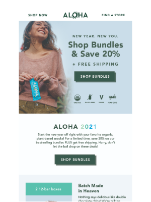 ALOHA - 🎉  Ring in the New Year with 20% Off ALOHA Bundles