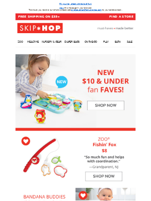 Skip Hop - $10 & Under Toys?! Yes, please!
