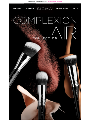 Sigma Beauty - Ends Tomorrow! Complexion Air Brush Set - 40% off!