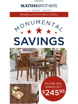 ⭐ Monumental Savings on Dining & Patio! ⭐