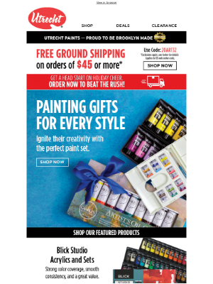 Utrecht Art Supplies - Painting gifts to inspire