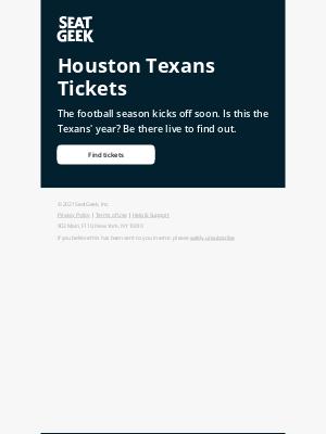 SeatGeek - Ready for Raiders football?