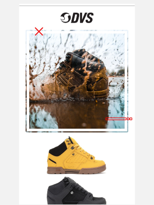 DVS Shoes - Outlast the Elements Because the Boots Do Their Job!