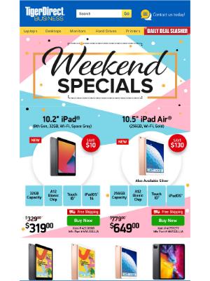 TigerDirect - Saturday Treats! $299 32GB iPad w/ Free Shipping
