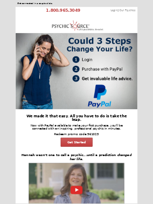 Psychic Source email marketing strategy - MailCharts